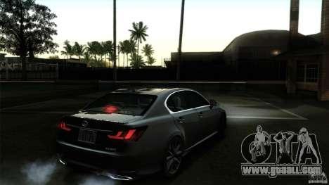 Lexus GS350F Sport 2013 for GTA San Andreas interior