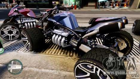 ATV Quad V8 for GTA 4 left view