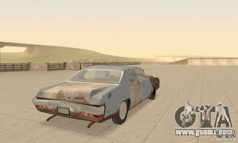 Pontiac LeMans 1970 Scrap Yard Edition for GTA San Andreas side view