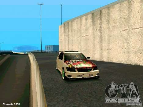 Toyota Altezza for GTA San Andreas back view