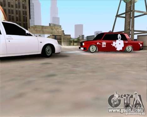 VAZ 2107 Gangsta for GTA San Andreas left view
