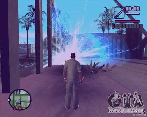Chidory Mod for GTA San Andreas second screenshot