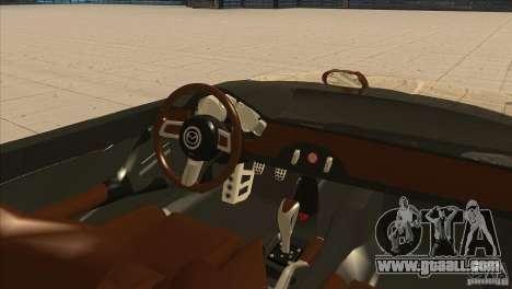 Mazda MX5 Miata Superlight 2009 V1.0 for GTA San Andreas inner view