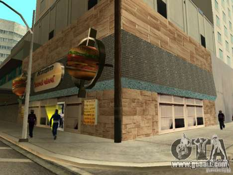 New Burgershot: Golden ČajničeG for GTA San Andreas second screenshot