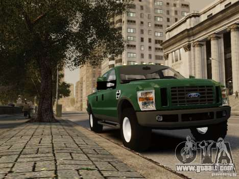 Ford F-250 FX4 2009 for GTA 4 back left view