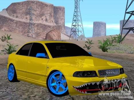 Audi S4 DatShark 2000 for GTA San Andreas inner view