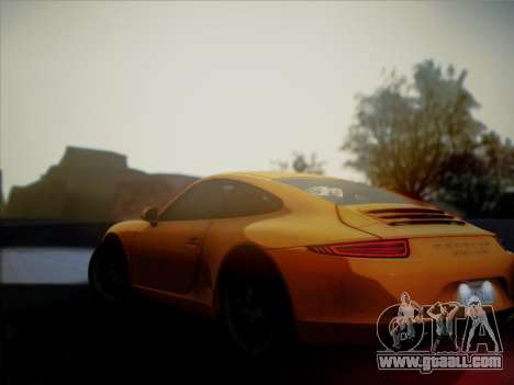 Porsche 911 (991) Carrera S for GTA San Andreas back view