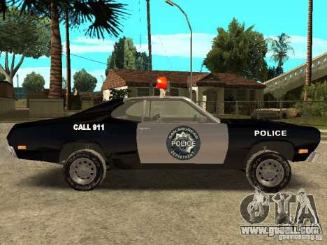 Plymout Duster 340 POLICE v2 for GTA San Andreas left view