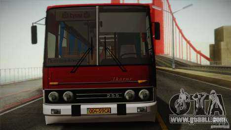 IKARUS 255.01 for GTA San Andreas back view