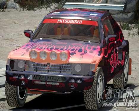 Mitsubishi Pajero Proto Dakar EK86 Vinyl 4 for GTA 4