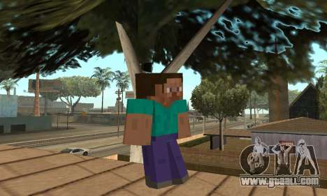 Steve from the game Minecraft skin for GTA San Andreas second screenshot