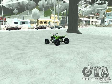 Kawasaki Monster Energy Quad for GTA San Andreas back left view