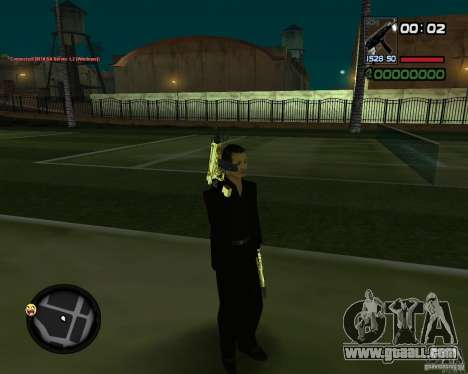 Tec 9 GOLD for GTA San Andreas third screenshot