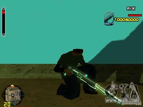 Blue weapons pack for GTA San Andreas sixth screenshot