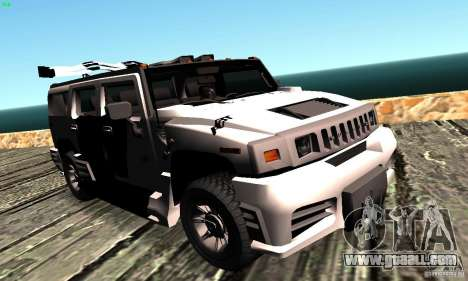 Hummer H2 Tunable for GTA San Andreas back left view