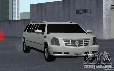 Cadillac Escalade 2008 Limo for GTA San Andreas back view