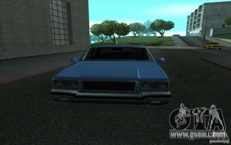 Civilian Police Car LV for GTA San Andreas inner view