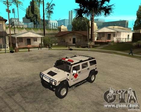 AMG H2 HUMMER - RED CROSS (ambulance) for GTA San Andreas