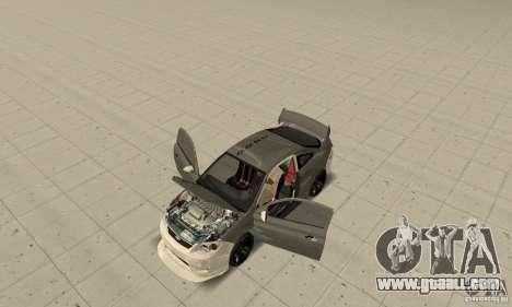 Chevrolet Cobalt SS NFS ProStreet for GTA San Andreas inner view