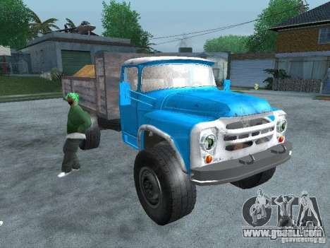 ZIL 130 garbage truck for GTA San Andreas right view