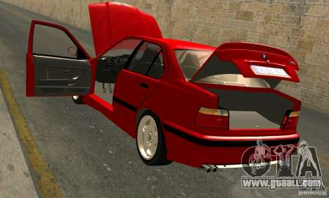 BMW M3 E36 for GTA San Andreas bottom view