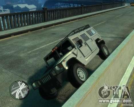 Hummer H1 for GTA 4 inner view