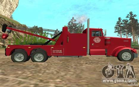Kenworth Towtruck for GTA San Andreas back left view
