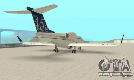 Bombardier Leardjet 45XR for GTA San Andreas back left view