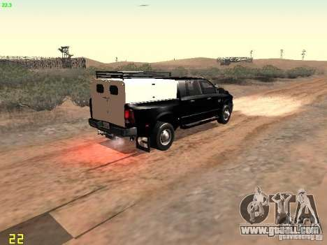 Dodge Ram 3500 Unmarked for GTA San Andreas back view