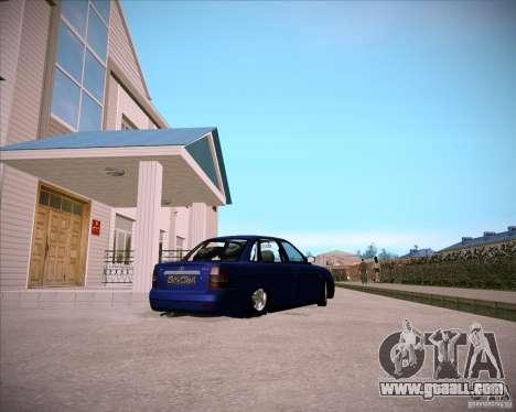 Lada Priora Chelsea for GTA San Andreas back view