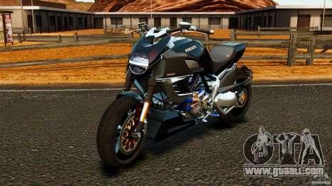 Ducati Diavel Carbon 2011 for GTA 4