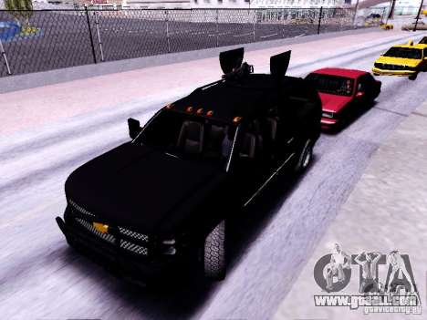 Chevrolet Silverado for GTA San Andreas left view