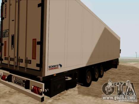 Schmitz Trailer for GTA San Andreas back left view