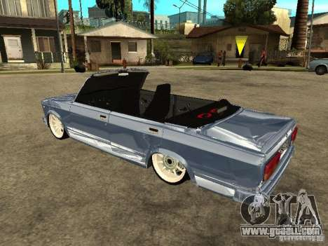 VAZ 2107 Convertible for GTA San Andreas left view