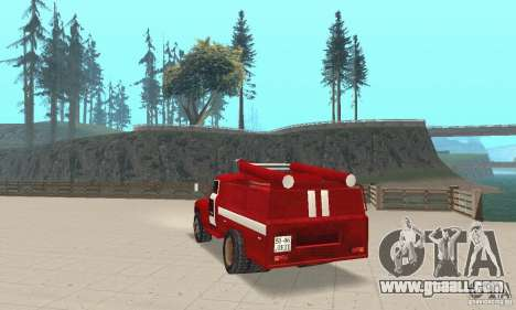 ZIL-130 fire for GTA San Andreas back left view