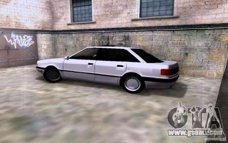 Audi 90 Quattro for GTA San Andreas inner view