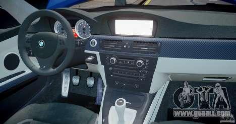 BMW M3 E92 2008 v.2.0 for GTA 4 interior