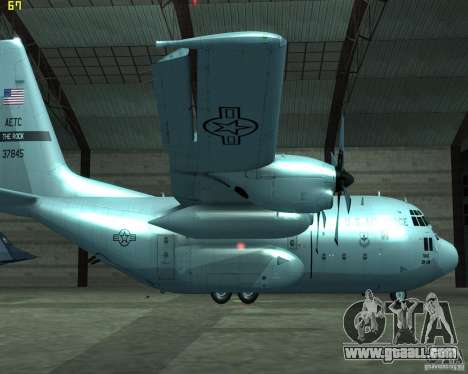 C-130 hercules for GTA San Andreas left view