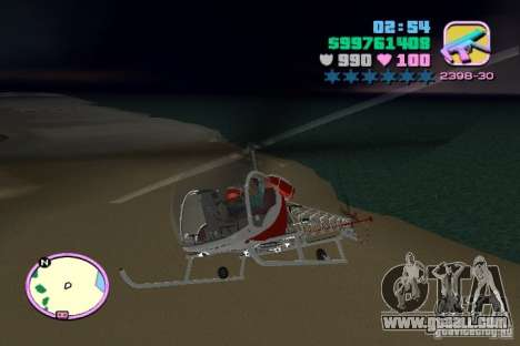Bell 47 for GTA Vice City back view
