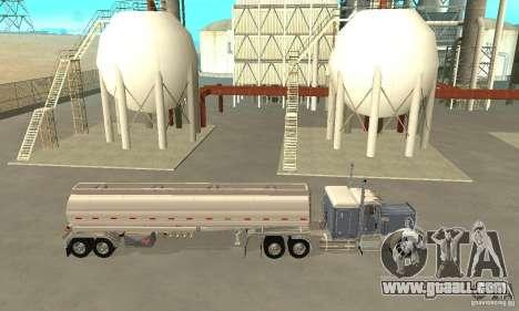 Peterbilt 379 Custom And Tanker Trailer for GTA San Andreas left view