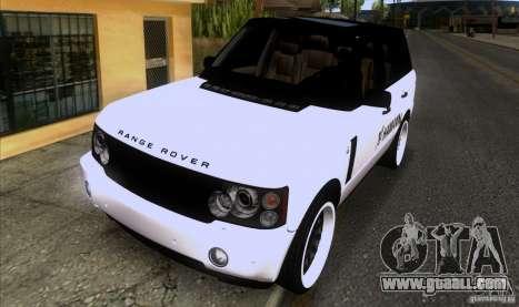 Range Rover Hamann Edition for GTA San Andreas
