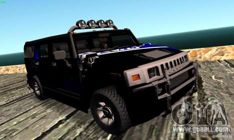 Hummer H2 Tunable for GTA San Andreas back view