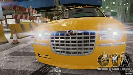 Chrysler 300c 3.5L TAXI FINAL for GTA 4 left view