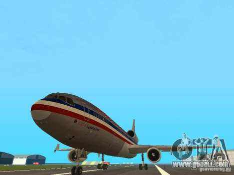 McDonell Douglas MD11 American Airlines for GTA San Andreas back view