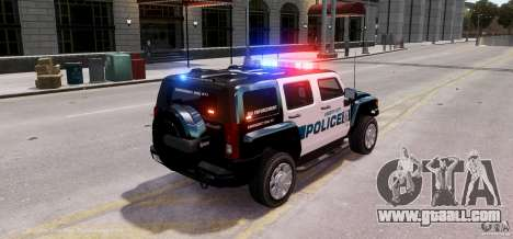 Hummer H3X 2007 LC Police Edition ELS for GTA 4 back left view
