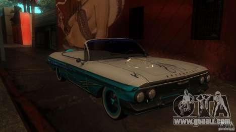 Chevy Impala SS 1961 for GTA San Andreas