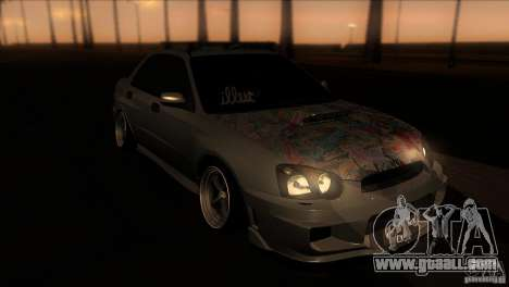 Subaru Impreza WRX STi for GTA San Andreas back view