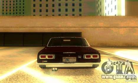Nissan Skyline 2000-GTR for GTA San Andreas bottom view