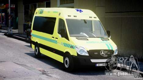 Mercedes-Benz Sprinter PK731 Ambulance [ELS] for GTA 4 back view