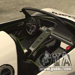 porsche 918 spyder consept for gta san andreas. Black Bedroom Furniture Sets. Home Design Ideas